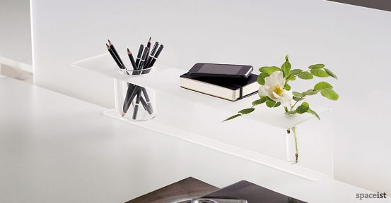 frame white perspex pen tray