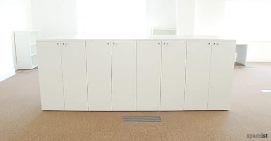 frame white 162cm high storage