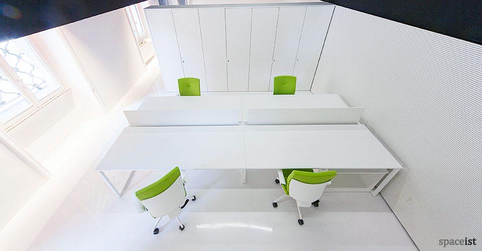 spaceist frame white office desk