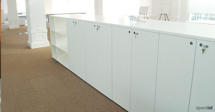 frame white dividing storage