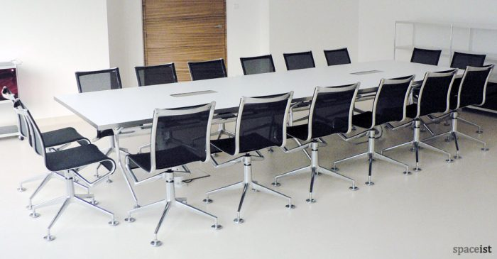 frame white meeting tables