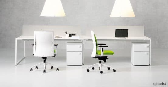 frame white bench desk