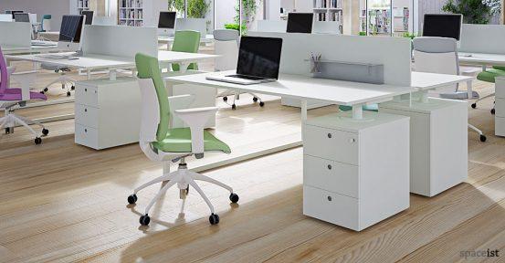 frame white supporting under desk storage