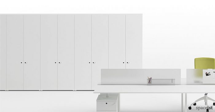frame white tall office storage