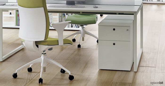 frame white under desk storage