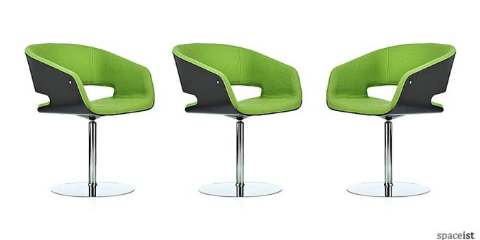 gap green designer meeting room chairs