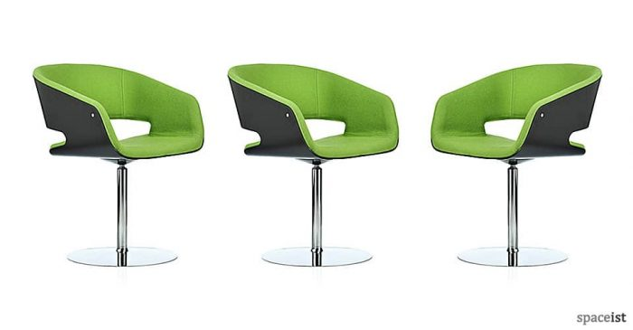 gap green designer meeting room chairs