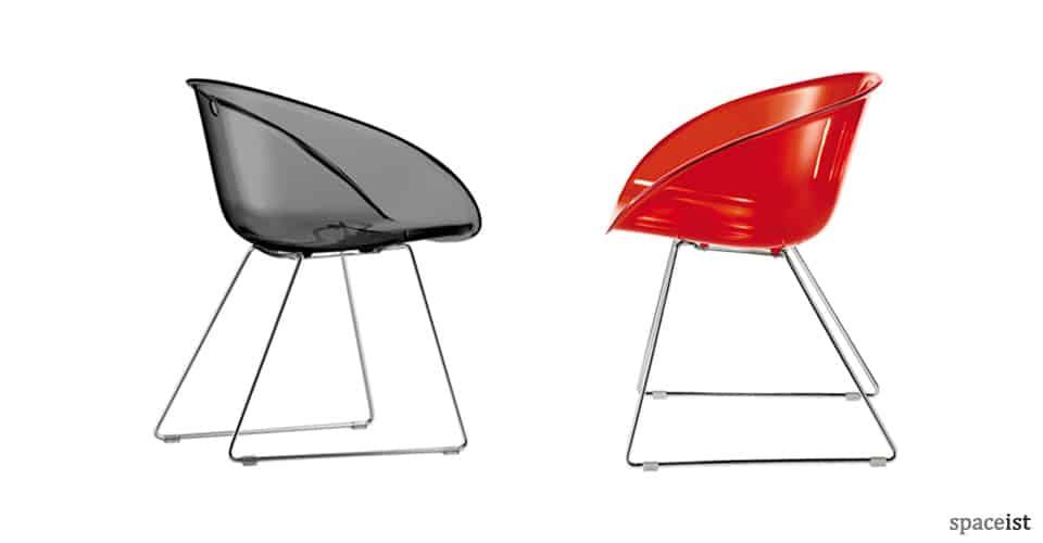 gliss white designer cafe chairs
