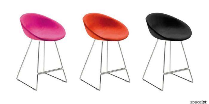 gliss sled base bar stools
