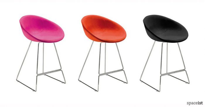 gliss sled base bar stools
