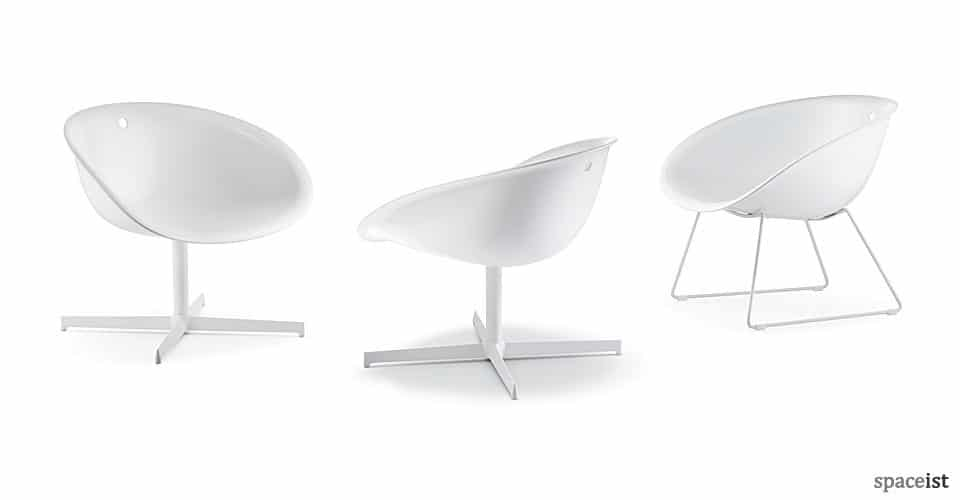 gliss white reception chairs