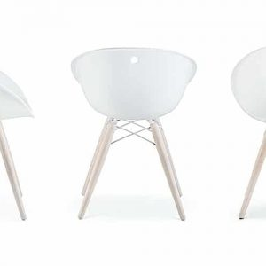 Gliss white and oak meeting chair