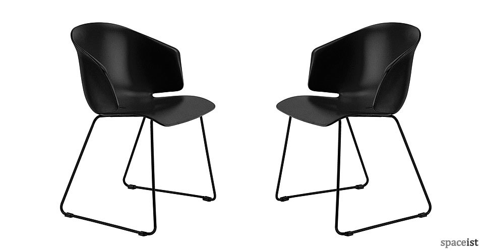 grace black cafe chairs