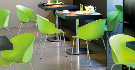 grace curvy lime green chairs