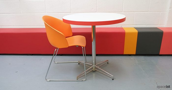 grace curvy orange cafe chairs