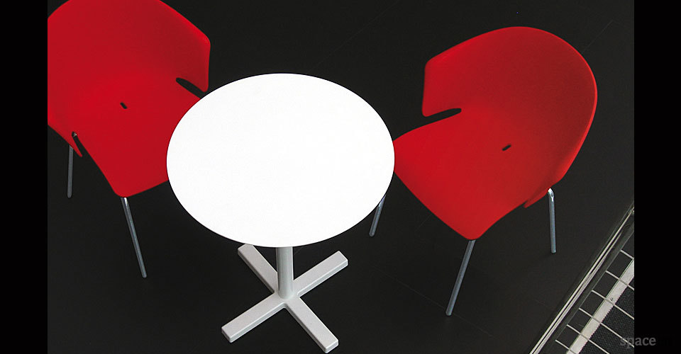 grace red curvy cafe chairs
