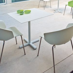 grace curvy orange and white designer cafe chairs
