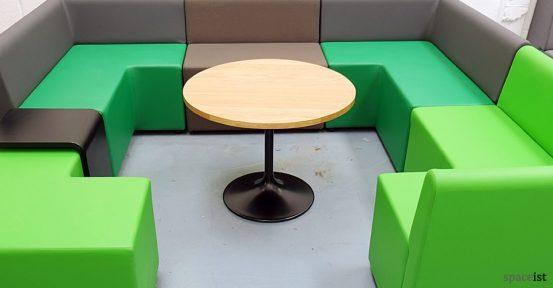 green modular cube oak coffee table
