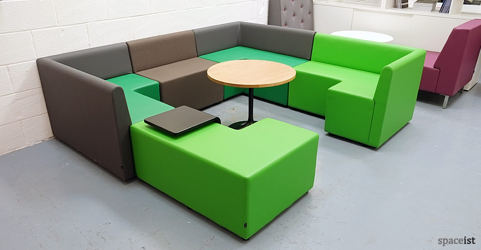 Modular Classroom Seating ~ Modular furniture cubes green booth