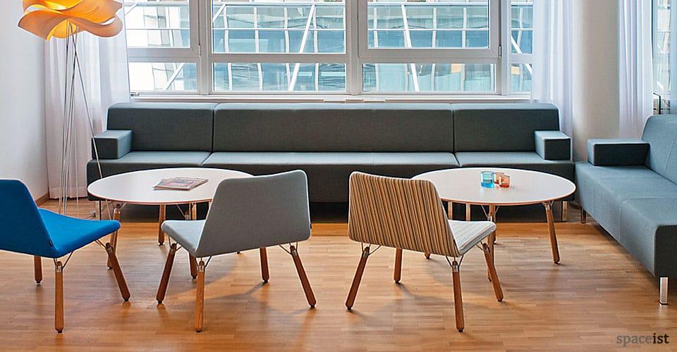 grey modular long sofa
