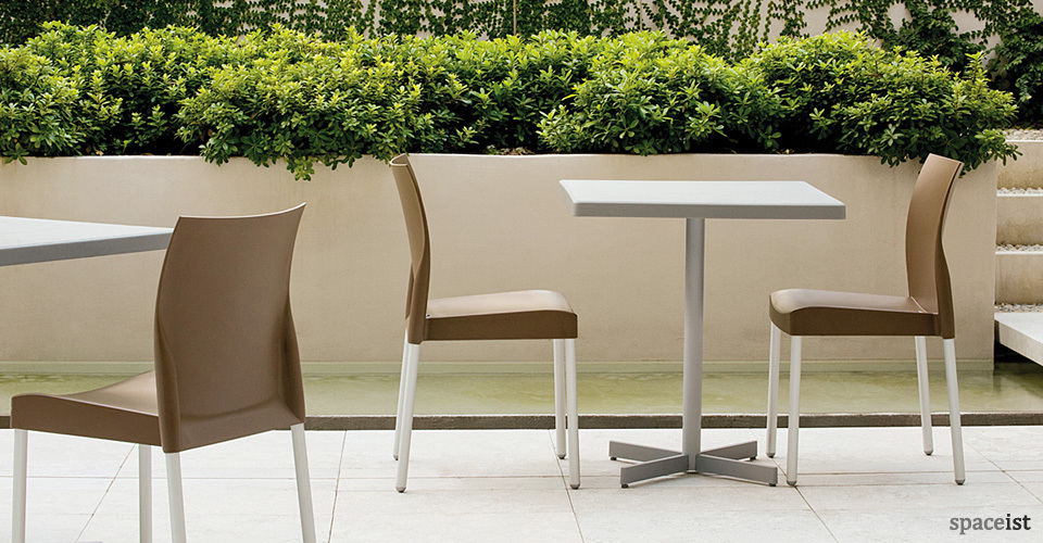 grey x outdoor cafe tables