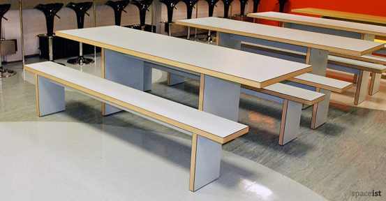 guildford grey canteen bench
