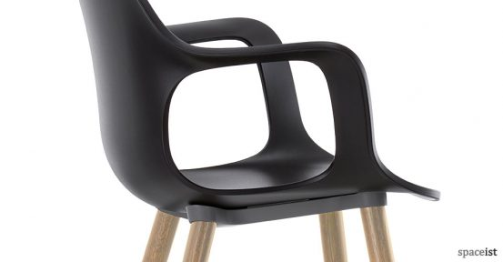 Hal black meeting room chair