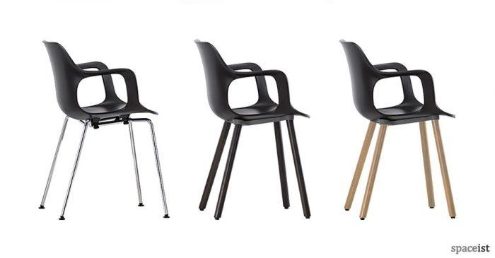 Hal black meeting room chair