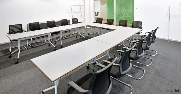 hero orange cantilever meeting room chairs