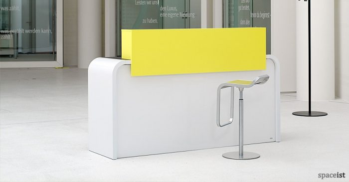 hi line curvy white reception desk