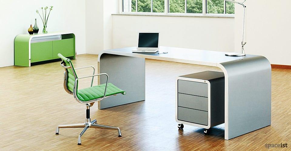 high line green metal executive desks