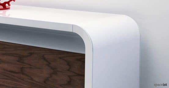 highline curved white cabinet