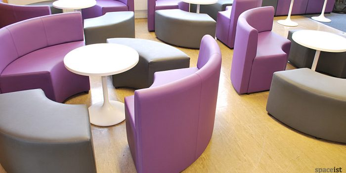 houndslow youth centre purple round seating