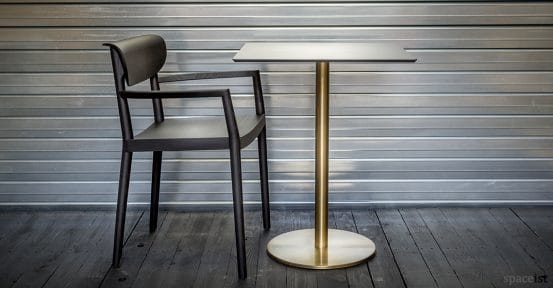Icon brass effect cafe table