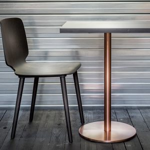 Inox antique copper and brass table