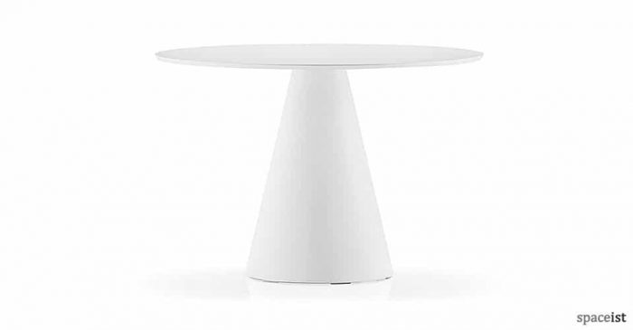 icon round white canteen tables