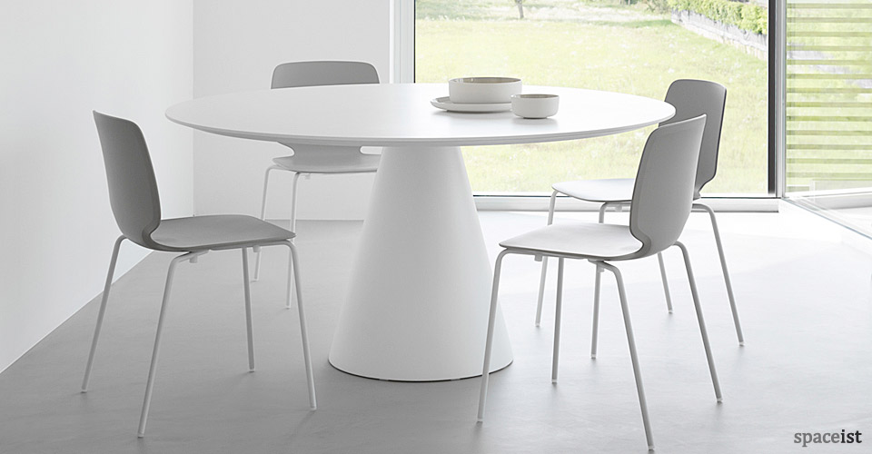 icon round white meeting tables