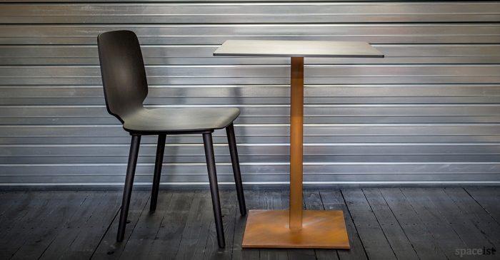 Inox rust finish cafe table base