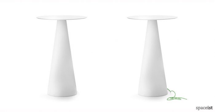 ikon white bar cone table