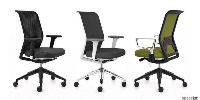 id mesh green task chairs