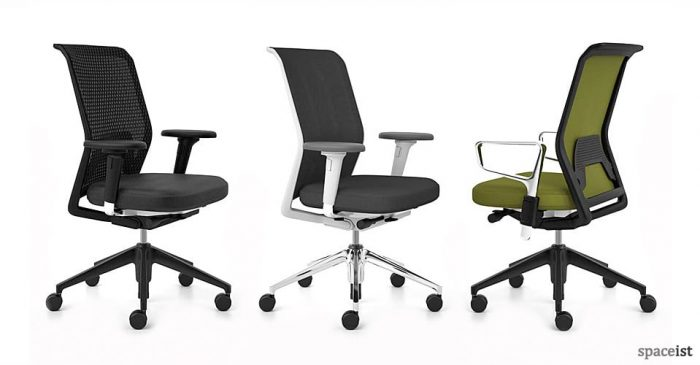 id mesh green task chairs