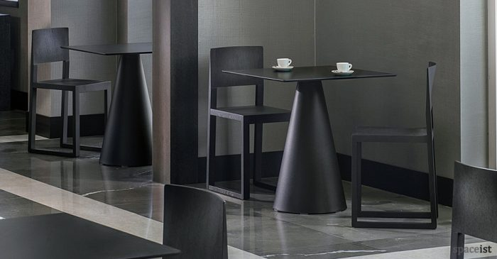 ikon square black cone table