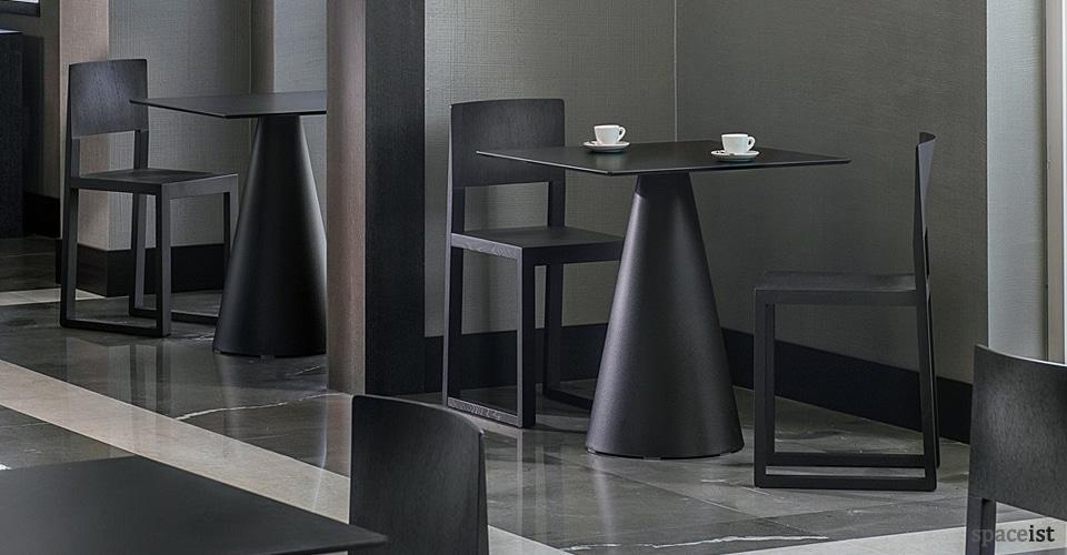 ikon square black cone table