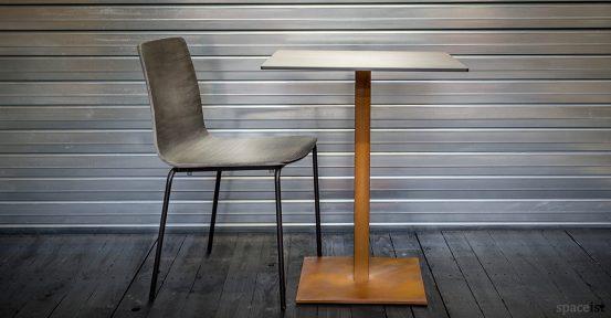 inga black plywood cafe chair