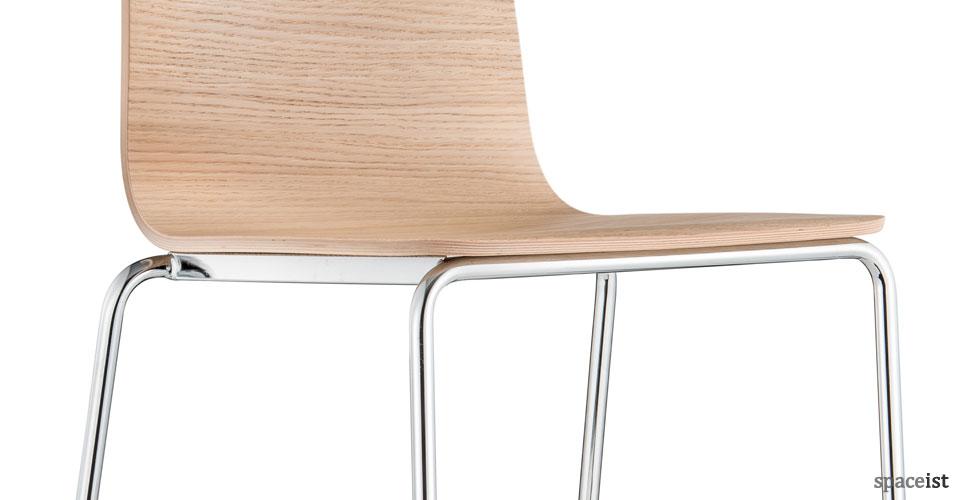inga oak bar stool with back