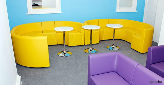 ipa yellow round bar booths