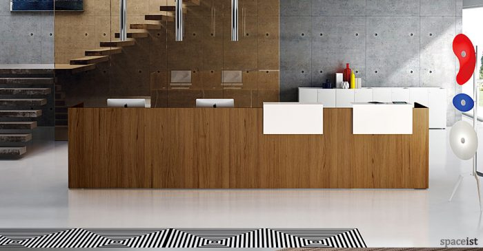 ithos walnut reception desk