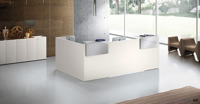 ithos white reception desk