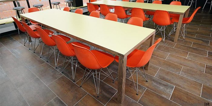 jb 4leg walnut canteen tables