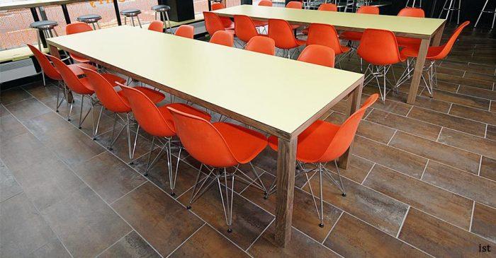 jb 4leg walnut canteen tables